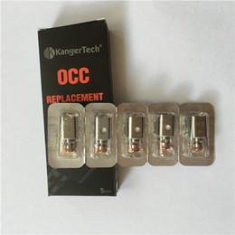 Wholesale Kang OCC bobina bobinas de reemplazo clon vertical de depósito secundario ohm ajuste Kangertech depósito secundario Mini Nano atomizador encaja istick Caja Mod