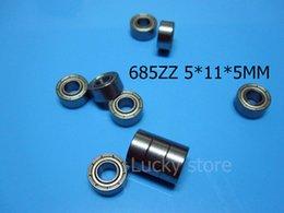 685ZZ ABEC-5 cojinetes miniatura sellados metal 10pcs que envían libremente 685 685Z 685ZZ 5 * 11 * 5m m cojinete de acero del cromo desde rodamientos 5mm proveedores