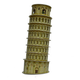 Wholesale Leaning jigsaw puzzle Tower Torre di Pisa Paper D Puzzle Early Child Children LEANING Kid gift ARCHITECTURE DIY D PUZZLE TOY
