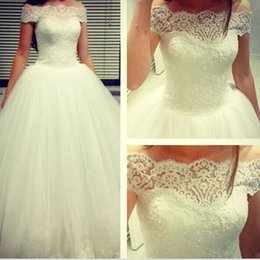 2016 White Princess Bridal Dresses Off the Shoulder Appliques Beads Tulle Court Train Wedding Dresses Middle East Style