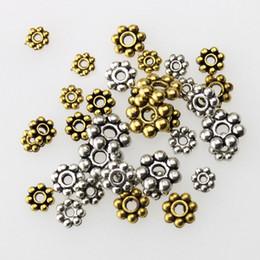 Wholesale Wholesales Zinc Alloy Spacer Beads Snow For Bracelet Necklace Jewelry Finding Tebitan Silver