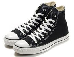 Altos tops hombres 45 en venta-Con caja El tamaño de los zapatos de lona de las mujeres de los hombres de la zapatilla de deporte de la lona del alto-Top de la Alto-Tapa del Alto-Top clásico de HL de alta calidad clasifica EU35-45 al por menor