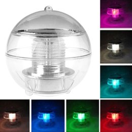 Wholesale Solar Powered lamps Panel Self Recharging Floating LED Ball for Garden Ponds Lawn lamps Landscape Yard LED night light