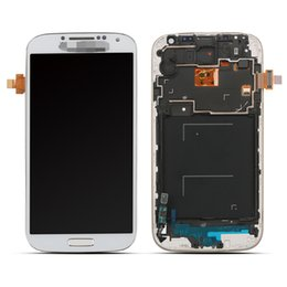 Wholesale For Samsung Galaxy SIV S4 i9505 I337 Sales LCD Display Digitizer Touch Screen Frame Home Button Flex Tested