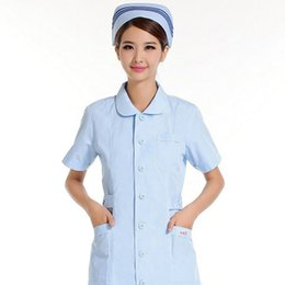 Summer can't afford to nurse short-sleeved white blue and pink beauty overalls uniform ball antibacterial fabrics HX - 20