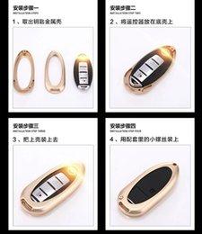 Infiniti porte-clés en Ligne-Or Pour Tous Infiniti série En Aluminium En Alliage Coque Clé Case Coque Parapluie Coque Avec Porte-Clés En Cuir