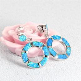 Wholesale 925 Sterling Silver Green Opal Crystal Boucles d oreilles pour les femmes Fe240 Cheap boucle d oreille pendentif Haute qualité boucles d oreilles ruban