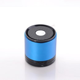 Wholesale Wireless portable Mini bluetooth speaker handfree with mic TF card Subwoofer speaker aluminium Metal Compact s outdoor for smartphone