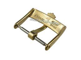 Descuento alto acero inoxidable pulido 18m m Soporte al por mayor Nuevo oro de la hebilla del perno de la venda del reloj pulido Acero inoxidable sólido de la alta calidad