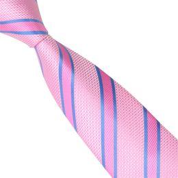 Wholesale Fashion Pink Ties Set Men Jacquard Woven Skinny Slim Narrow Necktie 6cm Neckwear Necktie Groom Wedding Party Tie E-031