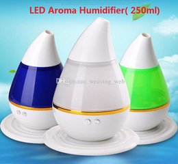 Wholesale 250ml W Ultrasonic Aroma Humidifier Air Diffuser Smart Home with LED Light Purifier Atomizer Refresher for Home Use