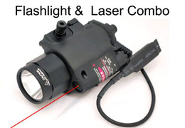 Tactical Red or green Laser & Flashlight Sight Scope Combo Weaver Picatinny Rail Rifle 200 Lumen for Pistol