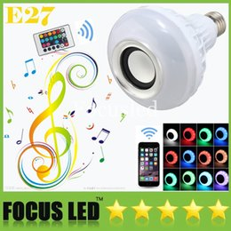 Hot Seller LED RGB Color Bulbs Lights Lamps E27 Smart Speaker Wireless Bluetooth Remote Control Music Audio Speaker Suit for iphone