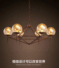 2016 new design vintage industrial LED glass pendant America style restaurant clothing coffee decoration Iron DNA modo magic pendant light