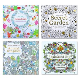 Wholesale Secret Garden secret garden coloring book painting drawing book Pages Animal Kingdom Enchanted Forest Relieve Stress For Children Adult