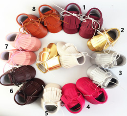 Kids Baby First Walkers New Baby Soft bottom Tassel Moccasins Walker shoes Toddler PU infant High-top Boot Children clothing free shipping