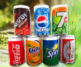 Boîte de haut-parleur de radio en Ligne-Mini haut-parleur Cans Coca-Cola Pepsi Fanta 7-Up Sprite Haut-parleurs Zip-top Haut-parleurs USB Portable Sound Box TF Haut-parleurs Support Radio FM