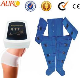 Guangzhou manufacturer Portable pressotheraply slimming body wraps skin massage beauty salon machine with one year warranty Au-7007