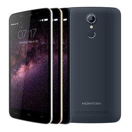 Wholesale Free case and film HOMTOM HT17 Cellphone inch Android MTK6737 Quad Core GB GB mAh MP OTG fingerprint G FDD Mobile Phone