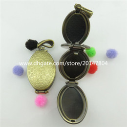 Wholesale Bronze Copper Folding Picture Photos Cameo Base oval Locket Fit x13mm Tray Setting