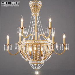 Crystal Chandeliers Royal Empire Gold Crystal Chandelier Light Fixture French Lights Lighting Dining Room Restaurant Lamparas