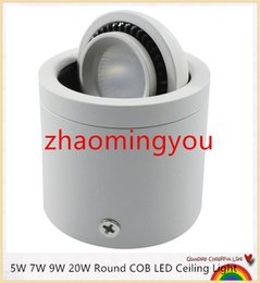 YON 5W 7W 9W 20W Round COB LED Ceiling Light Surface Mounted Kitchen Bathroom Lamp AC85-265V LED Down light Warm White Cool White