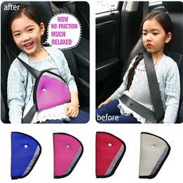 Wholesale Triangle Child Baby Kids Car Safety Seat Belt Holder Air Mesh Harness Adjuster Seatbelt Strap Clip Cover F575