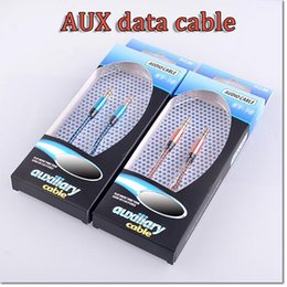 Wholesale DHL Free Colorful nylon weaving mm Aux Audio Auxiliary Cable Jack Male to Male Plug Stereo Cord Wire for samsung iphone HTC LG smart phon
