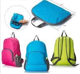 Wholesale 2016 Sport Travel Backpacks The Portable Zipper Soild Nylon Back Pack Daily Traveling Women Backpack Shoulder Bags Folding Bag