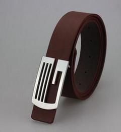 NEW 2016 Korean Women's belt smooth buckle belt men's casual leather belt business