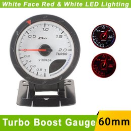 Wholesale MM Turbo Boost Gauge White Face D fi CR Advance Boost Turbo Meter sensor with Red White Lighting Auto Gauge Car Meter