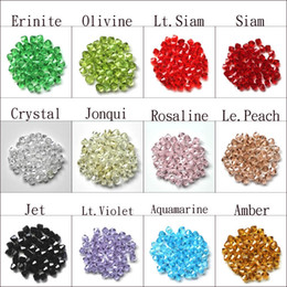 500pcs Mixed Color 5301 Bicone Faceted Loose Beads 4mm 14 Colors Free Shipping Loose Beads Jewelry Finding