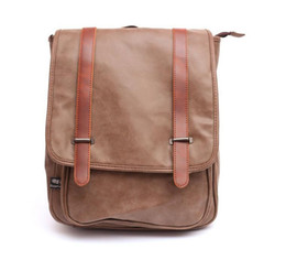Wholesale Men Women Vintage College Style Best Quality PU Leather Backpack Versatile Laptop Racksack Male Travel Hiking Bags