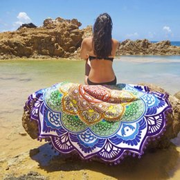 Wholesale Indian Round Mandala Tapestry Wall Hanging Throw Towel Boho Beach Yoga Mat Decor
