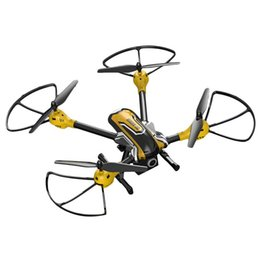K70H Sky Toy 2.4G 6 Axis Gyro RC Quadcopter 3D Flips Rolls Headless Mode One Key Return with 2.0MP Camera - Black + Yellow