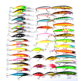 Wholesale Hot New set Mixed Models Fishing Lures Clolor Mix Minnow Lure Crank Bait Tackle