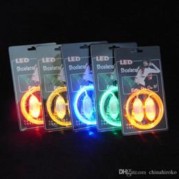 LED Flashing shoe laces 200pcs(100 pairs)Fiber Optic Shoelace Luminous Shoe Laces Halloween Christmas gift Free DHL FedEx