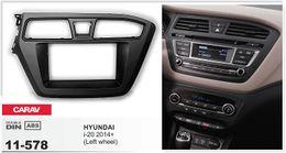 CARAV 11-578 Car Radio Fascia Panel for HYUNDAI i-20 2014+ (Left wheel) Stereo Fascia Dash CD Trim Installation Kit