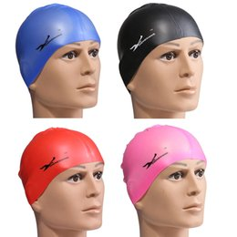 Multi Color Quality Silicone rubber Children swimming cap Adult men women waterproof swim caps hat free shipping