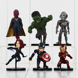 Wholesale The Avengers Captain America Spiderman Thor Batman Hulk Wolverine Q version Action Figures Toys PVC Dolls cm