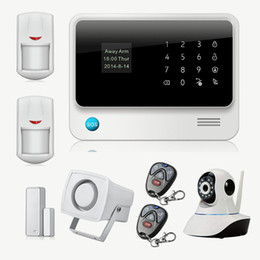 Wholesale Wireless GSM Home Security Alarm System IOS Android Control With IP Camera WiFi Maison Alarme