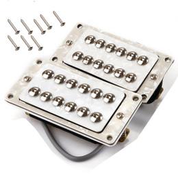 Guitare double goulots à vendre-définir White Pearl NeckBridge Humbucker Double Coil Ramassage Set pour LP SG Guitar