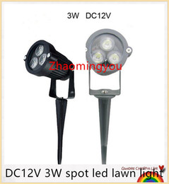 Free shipping DC12V 3W spot led lawn light IP67 waterproof outdoor garden lights Red Yellow Green Blue white warm white lanscape