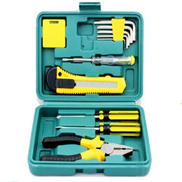 Wholesale-11 pieces of Vehicle Maintenance Kit Auto emergency kit combination kit car accessories spare tools