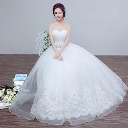 2016 new spring wedding bride wedding dress size Korean Princess Tutu diamond bra Qi