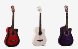 Wholesale quot Acoustic Guitar Starter Beginner Package Gig Bag Extra String Directly Cheap TM Translucent Medium Guitar Pick