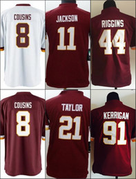 Wholesale Youth Kids Football Stitched Redskins Blank Cousins Jackson Taylor Riggins Kerrigan Red White Jerseys Mix Order