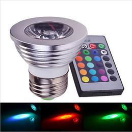 RGB LED Lamp E27 4W LED Bulb RGB Soptlight 85-265V Energy Saving 16 Color Change LED Spot Light High Quality With IR Remote