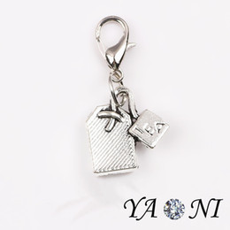Wholesale Antique Silver Tea Bag Floating Charm Pendant Alloy Dangle Charm DIY Charm for Living Glass Locket