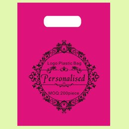 Wholesale Customize Logo Plastic Bags polythelene Packing pouches Glasses Cloth Cosmetics Jewelry Store shopping Bag